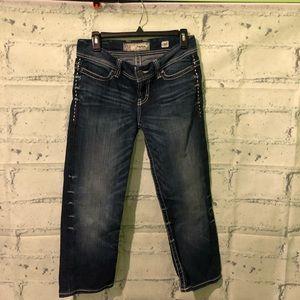BKE Payton cropped jeans capri size 27. Like new.
